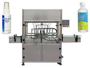 hand sanitizer filling capping machine