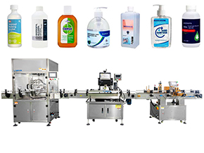 Liquid Bottle Filling Capping and Labeling Machine