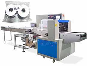 horizontal Metal Parts Flow Wrap Packing Machine